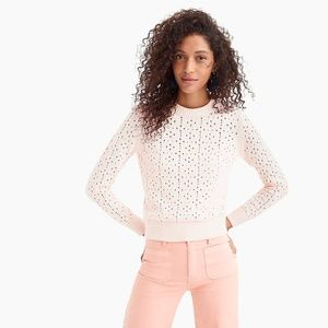 J. Crew Allover Pointelle Sweater size M NWT